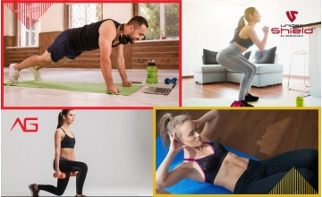 How to get a gym workout at home with no equipment /  How to keep active while remaining at home